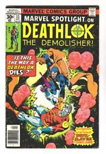 MARVEL SPOLIGHT on DEATHLOCK 33  (VF-) DEVIL SLAYER ORIGIN  (FREE SHIPPING)*
