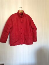 Red Dannimac Ladies Quilted Down Jacket Size M 16/18