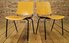 Vintage Stacking Chair 1960s Laminated wood MAUSER Chair Danish Modern Eiermann