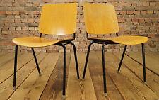 Vintage Sedia impilabile Anni '60 Compensato MAUSER sedia Danish Moderno