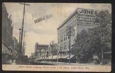 Postcard LITTLE ROCK Arkansas/AR  Jones Furniture & Business Storefronts 1907
