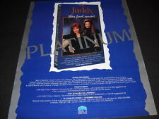 The JUDDS Their Final Concert video is now PLATINUM Promo Poster Ad mint cond