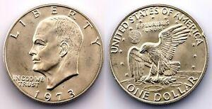 EEUU - 1 Dolar. 1973. Eisenhower. SC/UNC. Plata 24,1 g.