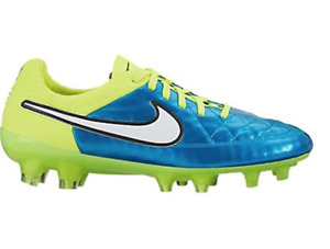 Nike Womens Tiempo Legend V FG Soccer Cleat (Blue Lagoon, Volt) Sz. 11.5