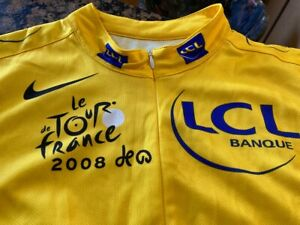 Le Tour de France Bicycle Zip Up Cycling Jersey Made in Italy Size XL 2008