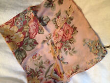 Vintage Paul Harris Scarf - Flowers on a Light Dusty Rose Background