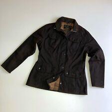 Ladies Barbour Utility Waxed Brown Jacket Size uk 14 / us 10 / eu 40