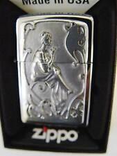Zippo® Nostalgie Smoking Lady Woman mit Ornamenten Platte   New Neu OVP