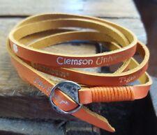 Clemson University LEATHER WRAP BRACELET  Tigers Jewelry NCAA 19.99 retail