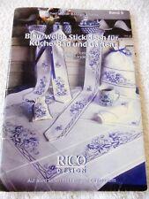 RICO DESIGN - Blau/weiße Stickideen für Küche, Bad und Garten