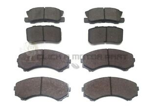 FRONT AND REAR BRAKE DISC PADS SET FOR MITSUBISHI SHOGUN 3.2 Di-D 3.5 V6 00-06