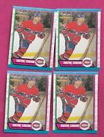 4 X 1989-90 OPC # 248 CANADIENS SHAYNE CORSON  ROOKIE  NRMT-MT CARD (INV# C0574)