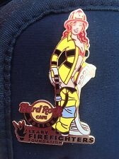 HRC HARD ROCK CAFE Boston Firefighter Girl #1 Red Head Pin 2008 le 300