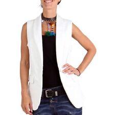 Gilet da donna in cotone bianco