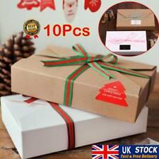 10PCS Kraft Paper Cookie Packaging Storage Bags Envelope Biscuit Gift Box UK
