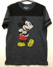 Mickey Mouse Disney Parks Retro Vintage Soft Charcoal Speckle T-Shirt S - 2XL