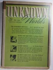 UNKNOWN WORLDS PULP FEB 1942 L RON HUBBARD HENRY KUTTNER FREDRIC BROWN