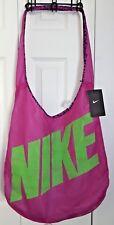 Nike Graphic Reversible Tote Gym Bag Purple/Green Shoulder Athletic