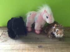 Ganz Webkinz Pink Pony Black Panther And Lil' Kinz Tiger No Codes Plush Toys