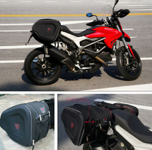 Motorcycle Saddle Bag Waterproof Durable Excellent Shape Helmet Bag Extensible