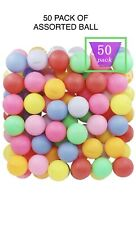 50 Pack PING PONG BALLS ASSORTED VIBRANT COLORS Beer Pong Table Tennis Cat Toy