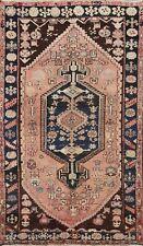 Antique Tribal Bakhtiari Hand-knotted Area Rug Geometric Oriental 5'x7' Carpet
