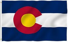 Anley Colorado State Flag Co Banner States of Us Flags Polyester 3x5 Foot