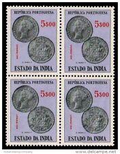 PORTUGUESE INDIA 1959, GOA-Coin of Ruler Maria II-MNH-Block of 4-S.G. 703