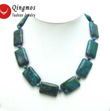 30mm Rectangle Genuine Rectangle Natural Malachite Necklace for Women Chokers