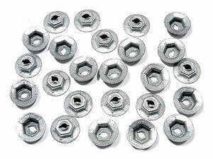 """For Kia PAL Nuts- Emblem, Trim, Chrome etc- Fits 1/8"""" Studs- 25 nuts- #087"""