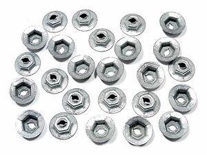 "25pcs Toyota PAL Nuts- Emblem Trim Chrome etc- Fits 1/8"" Studs- 5/16"" Hex- #087"