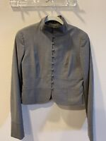 Theory Wool Cropped Mock Neck Blazer Jacket Sz 6