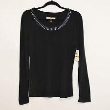Debbie Morgan Black Rhinestone Sweater Pullover Top size Small Medium Brand NEW