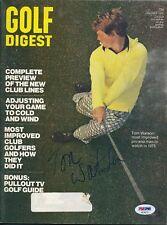 Tom Watson Signed Jan. 1975 Golf Digest Magazine Autograph Auto PSA/DNA AE26722