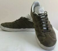 Adidas Gazelle Mens Size 10 Olive Green Suede