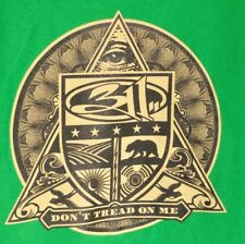 311 Dont Tread on Me Concert T Shirt Small Green Faded Cotton Tour Tee Rock Eye