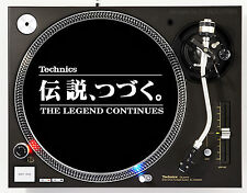 TECHNICS LEGEND WHITE - DJ SLIPMATS (1 PAIR) 1200's or any turntable