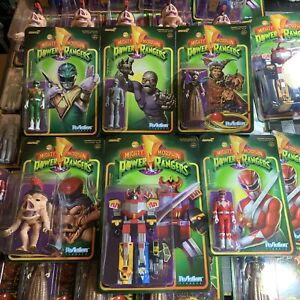 Super7 Mighty Morphin Power Rangers MMPR Reaction Action Figure Full Set IN STOK