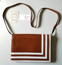 Vintage Valentino Garavani Geometric Convertible Leather Shoulder Bag/Clutch