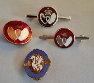 Vintage blood donor pins/brooch x4