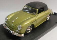 Brumm 1/43 Scale Metal Model - R118 PORSCHE 356 CABRIOLET 1950 LT GREEN
