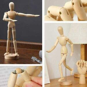 Jointed Doll Wooden Model Artist Drawing Sketch Mannequin Figurine Craft Décor