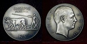 ALBANIA. 5 Franga Ari, 1926 - Amet Zogu