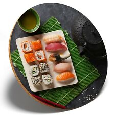 1 x Japanese Sushi Food Japan - Round Coaster Kitchen Student Kids Gift #2661