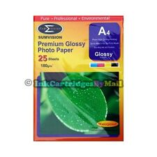 25 Sheets High Quality Premium Glossy A4 180gsm Gloss Photo Paper