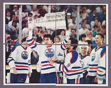 1988-89 Panini NHL Hockey Sticker Edmonton Oilers Stanley Cup #183 184 185 186