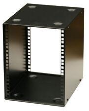7U 10.5 inch Half- Rack 300mm STACKABLE DESK  PRO DJ AUDIO  HALF RACK  BLACK