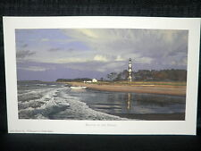 "Phillip Philbeck ""Beacon Of The Shoals"" Cape Lookout Light House Lithograph"