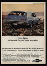 1965 CHEVROLET IMPALA 4 Door 3 Seat Blue Station Wagon Car VINTAGE AD