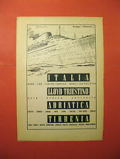 Pubblicita Advertising linea navigazione FINMARE adriatica tirrenia italia 1957